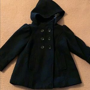 Black 3T wool old navy peacoat